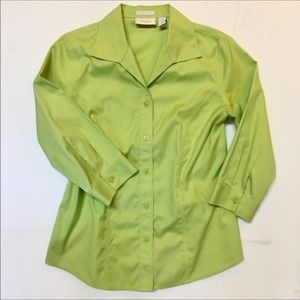 Chicos Womens Small No Iron Button Up Shirt Blouse